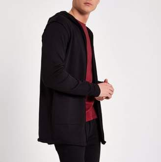 River Island Only and Sons black hooded cardigan
