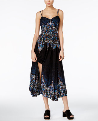 Free People Be My Baby Printed Midi Dress $148 thestylecure.com