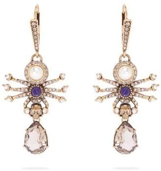 Alexander McQueen Spider Drop Earrings - Womens - Gold