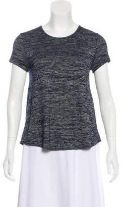 Rag & Bone Asymmetrical Short Sleeve Top