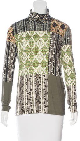 Etro Etro Printed Turtleneck Top