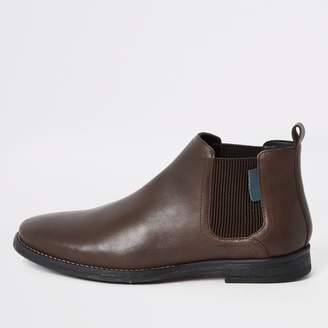 Mens Low Boots Leather Brown ShopStyle UK