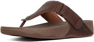 bff097ab0b00 FitFlop Trakk Ii Croc-Emboss Leather Toe-Thongs
