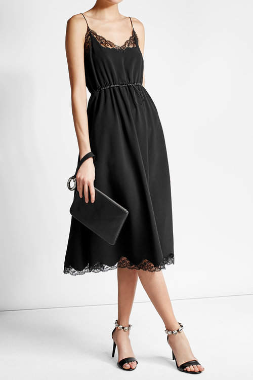 Alexander Wang Alexander Wang Crepe Dress with Lace Detail