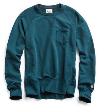 Todd Snyder + Champion Classic Pocket Sweatshirt in Petrol Blue