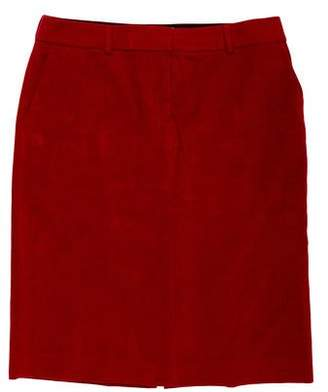 Cacharel Velvet Knee-Length Skirt