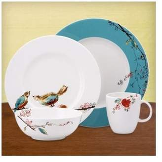 Lenox Chirp 4 Piece Bone China Place Setting Set, Service for 1