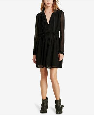 Denim & Supply Ralph Lauren Velvet-Trim Sheer Dress $125 thestylecure.com