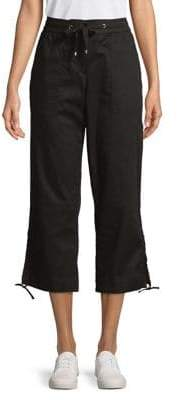 Jones New York Drawstring Tied-Hem Crop Pants