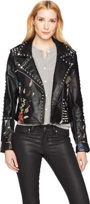Blank NYC [BLANKNYC] Women's Vegan Leather Moto Outerwear