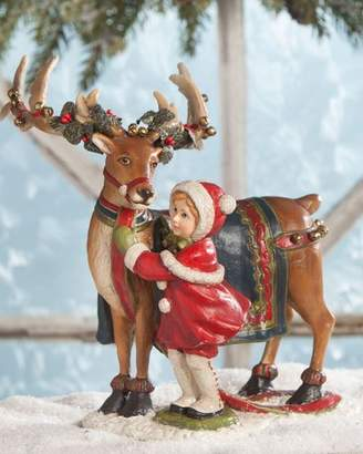 Bethany Lowe Dressing the Reindeer Christmas Decor Statue