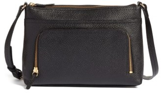 Nordstrom Pebbled Leather Crossbody Bag - Black $119 thestylecure.com