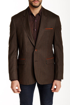 Robert Graham New Abbey Rust Striped Two Button Notch Lapel Wool Sport Coat $698 thestylecure.com