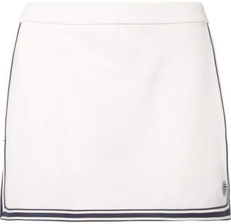 Tory Sport Striped Piqué Tennis Skirt - White