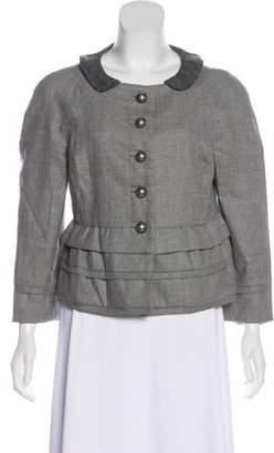 Peter Som Virgin Wool Button-Up Jacket