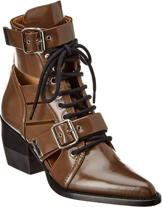 Chloé Rylee Double Buckle Leather Boot