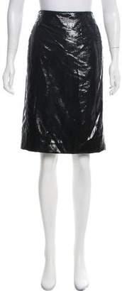 Nina Ricci Lurex Knee-Length Skirt