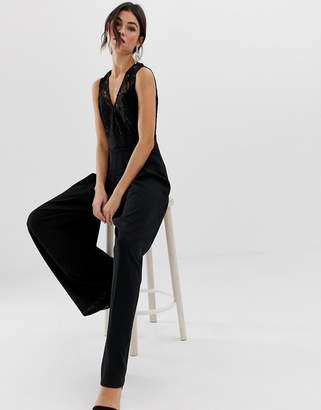 TFNC key hole back lace straight leg jumpsuit
