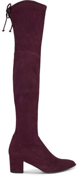 Stuart Weitzman - Thighland Suede Over-the-knee Boots - Burgundy