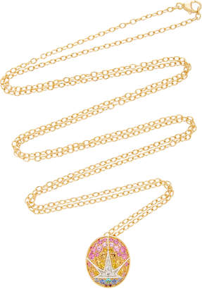 Nouvel Heritage Rising Star 18K Gold Diamond Sapphire And Tourmaline Necklace