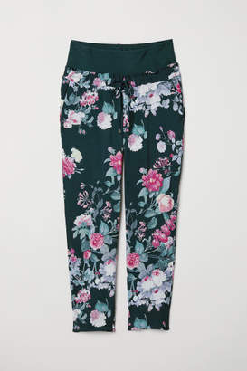 H&M MAMA Wide-leg Pants - Turquoise
