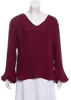 L'Agence Silk Long Sleeve Blouse