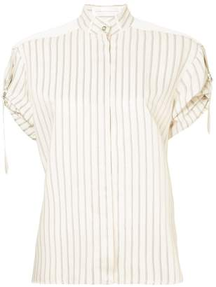 Victoria Beckham Victoria gathered sleeve shirt