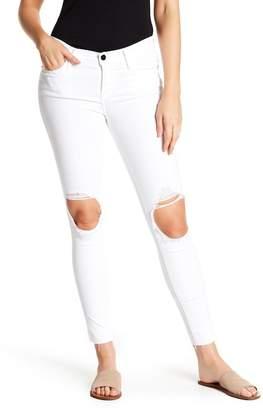 Frame Le Skinny Jeanne Raw Hem Cropped Jeans