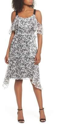 Lenon Cold Shoulder Chiffon Dress