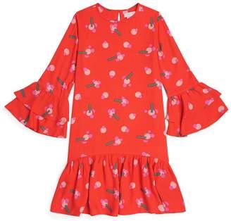 Stella McCartney Ruffle-Trim Stickers Dress