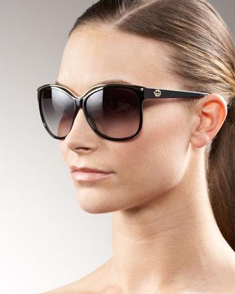 Gucci Retro Cat Eye Sunglasses