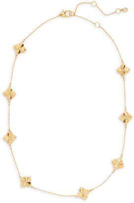 Kate Spade Legacy Goldtone Crystal Spade Flower Necklace