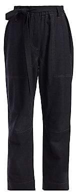 Brunello Cucinelli Women's Stretch Virgin Wool Tie Belt Pants