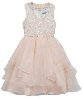 Rare Editions Little Girl's Ruffled Sequin Dress