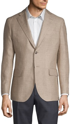 Lubiam Linen & Wool Sharkskin Sport Jacket