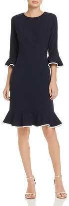 Nanette Lepore nanette Three-Quarter Sleeve Flounce Dress