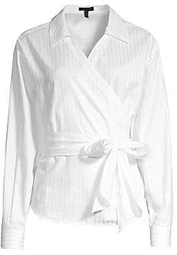 Escada Women's Navari Wrap Cotton Blouse