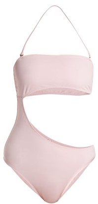 Solid & Striped Cece Bandeau Cut Out Swimsuit - Womens - Light Pink