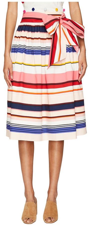 Kate SpadeKate Spade New York - Spice Things Up Berber Stripe Midi Skirt Women's Skirt