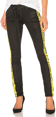OFF-WHITE Skinny 5 Pocket Jean $631 thestylecure.com