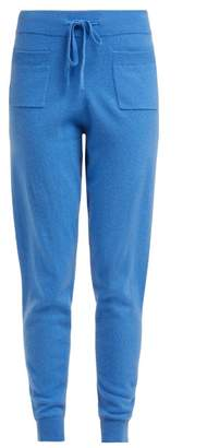 Allude Drawstring Waist Cashmere Trousers - Womens - Blue