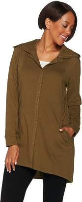 Linea By Louis Dell'olio Leisure by Louis Dell'Olio Snap Front Hooded Tunic