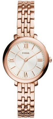 Fossil Jacqueline Mini Rose-Tone Stainless Steel Watch