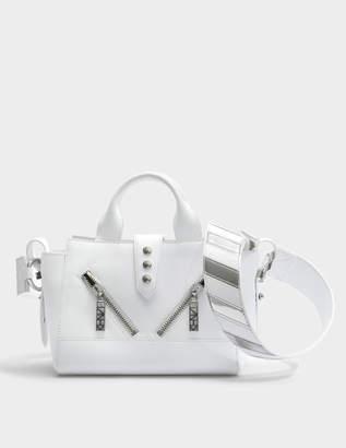 Kenzo Kalifornia Mini Tote Bag in White Iceberg / Lame