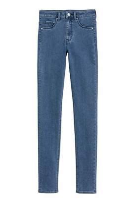H&M Skinny High Waist Jeggings - Denim blue - Women