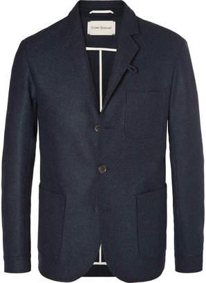 Oliver Spencer Navy Solms Slim-Fit Unstructured Mélange Wool Blazer