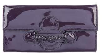 Valentino Patent Leather Histoire Wallet