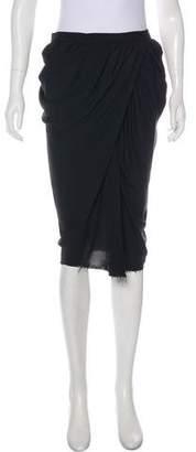 Lanvin Draped Knee-Length Skirt