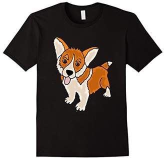 Corgi Smiletodaytees Welsh Puppy Dog Art T-shirt