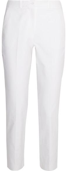 Michael Kors Collection - Samantha Stretch-cotton Slim-leg Pants - White